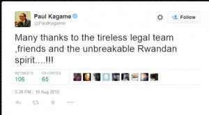 Paul Kagame tweet