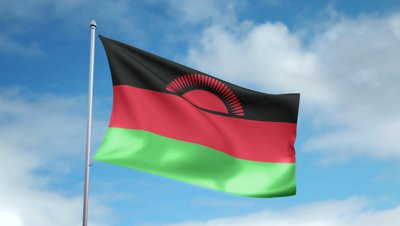 stock-footage-hd-p-clip-with-a-slow-motion-waving-flag-of-malawi-seamless-seconds-long-loop