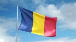 stock-footage-hd-p-clip-of-a-slow-motion-waving-flag-of-chad-seamless-seconds-long-loop