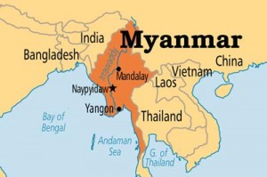 Myanmar-Map-India-Border